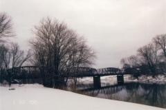 Twin Boroughs Bridge in Winter