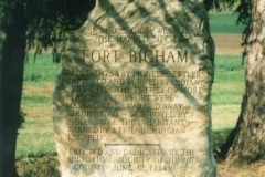 Fort Bigham Stone Monument in Tuscarora Township