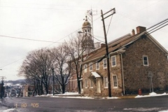 Juniata County Prison with Courthouse and Clock Tower