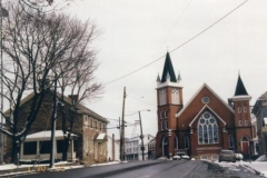 Messiah Lutheran Church and old Juniata County Prison