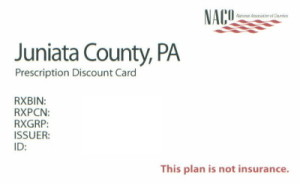 Juniata County Discount Prescription Card Example